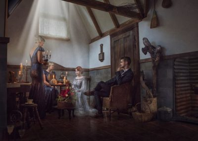 lacey and maids in the witches cottage